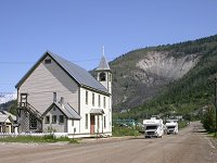 RVs in historic Dawson City, Yukon Territory