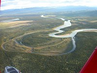 An oxbow on the Yukon River near Lake Laberge
