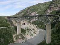 #akrr-nenana_gorge6 - The Parks Highway and Alaska Railroad cross in the Nenana Gorge, Alaska