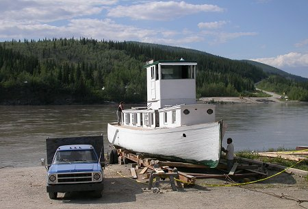 Restoring the historic riverboat Yukon Rose.